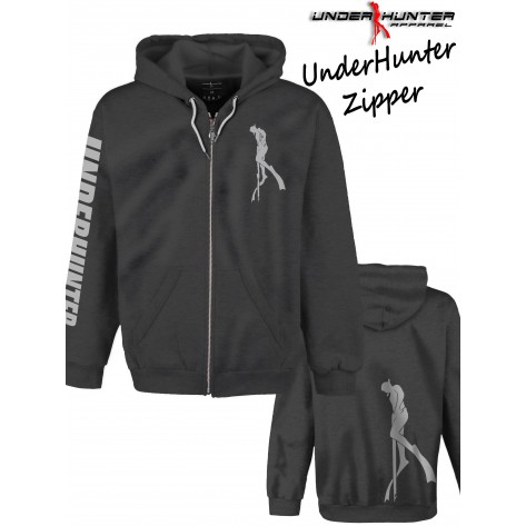UH 021 UNDERHUNTER ZIPPER GREY