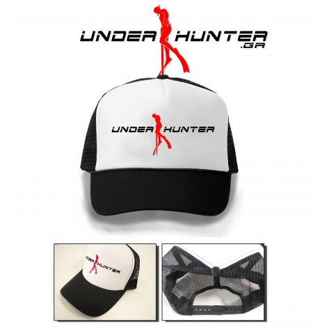UH 031 TRACKER HAT BLACK LOGO