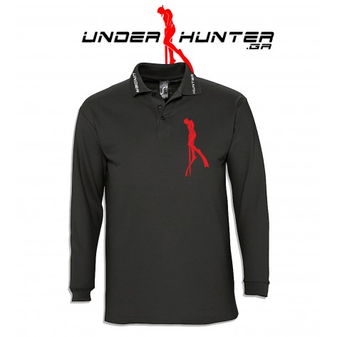 UH 041 BLACK DIVER POLO LONG SLEEVE